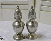 Vintage Stieff Pewter Salt Pepper Shaker Set Collectible PanchosPorch