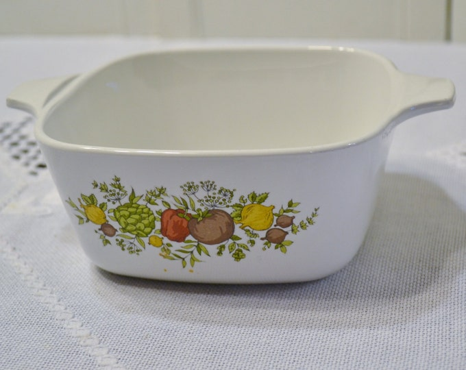 Vintage Corning Ware Spice of Life Casserole Baking Dish 2 3/4 cup PanchosPorch