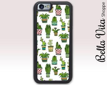 Cactus iPhone 6 Case, iPhone 6S Case, iPhone 6S Case, Succulents Pots Cute 1199 I6S