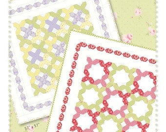 """Little Stitches by Acorn Quilt & Gift Company, measures 57"""" x 57"""""""