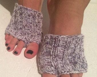multicolor    Hand Knitted Flip-flop Socks Toeless Socks, Flip Flop Sox, Dance, Yoga Pilates Socks, Footwarmers, foot guards, foot savers