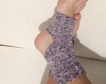hand knit    Piyo Socks  women multicolors Pedicure Socks Yoga Socks    Toeless Socks Slipper Socks Women  Socks  Colorful Hipster Socks
