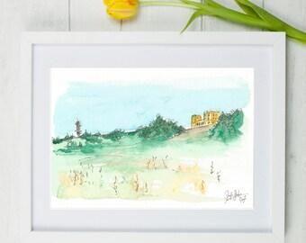 Stoke Park, stoke park bristol, Bristol, Bristol art, yellow house bristol, original art, watercolour painting, bristol artists
