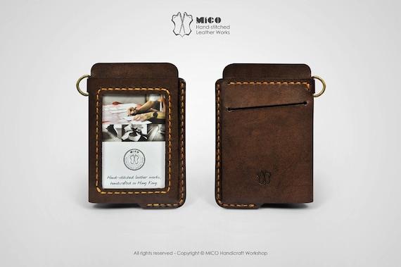 MICO PorteBadge En Cuir ID Pass Support Cordon - Porte badge cuir