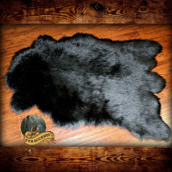 Fur Accents Deer Skin Pelt Rug Faux Fur Throw Unique