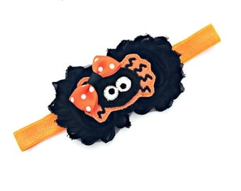 Halloween Baby, Halloween Headband, Halloween Baby Girl, Halloween Infant, Halloween Toddler, Halloween Newborn, Spider Headband, Spider Bow