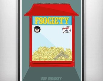 Mr Robot minimalist movie poster art