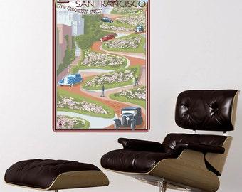 Lombard Street San Francisco Wall Decal - #60866