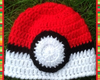 Handmade Crochet, Pokemon Inspired Baby Hat, Newborn or 0-3 months