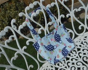 Cotton tote bag, girls tote bag, book bag, bridesmaid gift, reusable snack bag, reusable shopping bag, girls gift bags