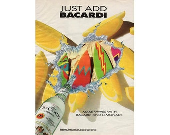 Vintage 1993 magazine ad for Bacardi Rum - 213