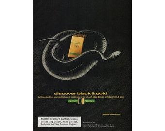 Vintage 1993 magazine ad for Benson & Hedges  - 111