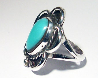 Handmade Sterling Turquise Ring