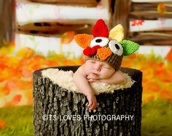 baby hat Thanksgiving turkey baby hat or diaper cover baby boy hat diaper cover girl baby hat diaper cover photo prop costume