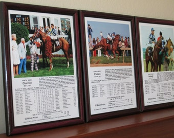 Secretariat The Road to Triple Crown 1973 Set of Kentucky Derby Preakness Belmont