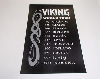 Viking World Tour Print ~ Poster #5000PP
