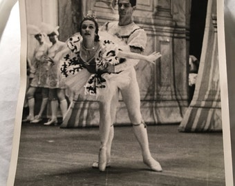 "Vintage Black and White Photo of Ballet, 8""x10"""