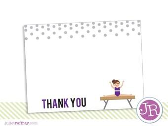 Gymnastics Birthday Thank You Card