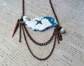 Turqouise Bird Bib Necklace