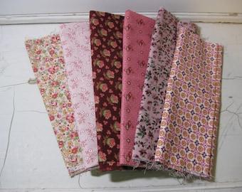 Fabric Scraps Pinks Destash