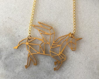 Pegacorn Unicorn Pegasus Necklace