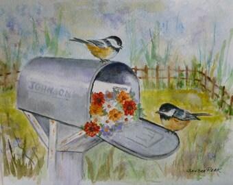 Chickadees and Mailbox