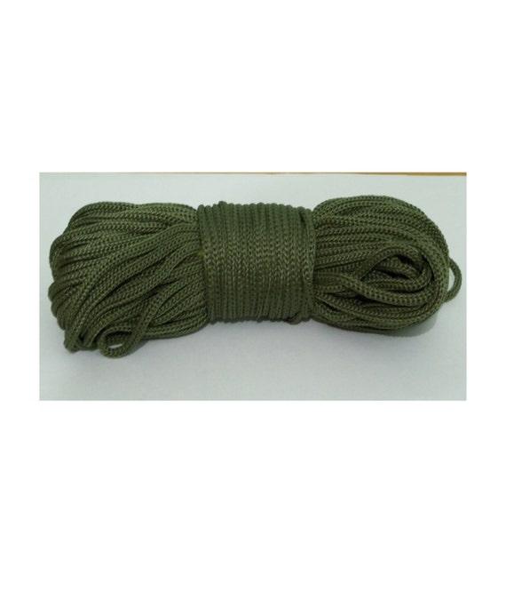 Color bottle green    polypropylene cord, 4mm Macrame Cord