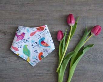 Spring Birds Bandana Bib - Baby Bib