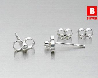 925 Sterling Silver Earrings, Knot Earrings, Stud Earrings (Code : ED79)