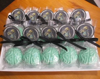 Zombie Party Favors - Halloween Party Favors, Zombie Favors, Zombie Birthday, Zombie Party, Brain Soap - Set of 10