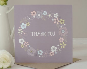 Amelia Thank You Card, Greetings Card, Stationery, Paper Goods