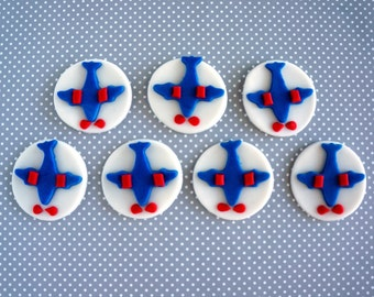 Airplane fondant cupcake toppers (12)