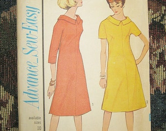 Advance Sew-Easy Dress Pattern, Flared Dress With Collar, Pattern #3403, Size 16, Vintage Sewing Pattern, 1964 Copyright,