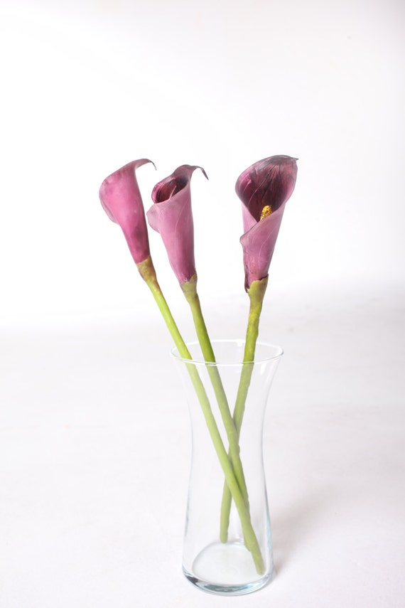 READY-TO-SHIP. Flowers made of air light clay, Calla lilies, Home decor, Floral arrangement