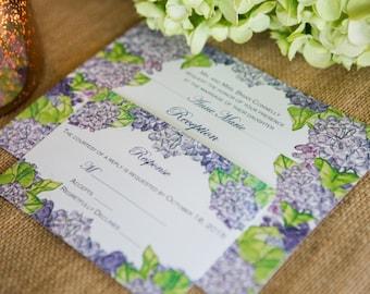 Hydrangea Invitation (Digital Files)