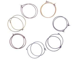 Anodized titanium hoops - hypoallergenic hoop earrings