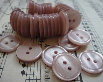 35 Small Pink Buttons - 1.5cm