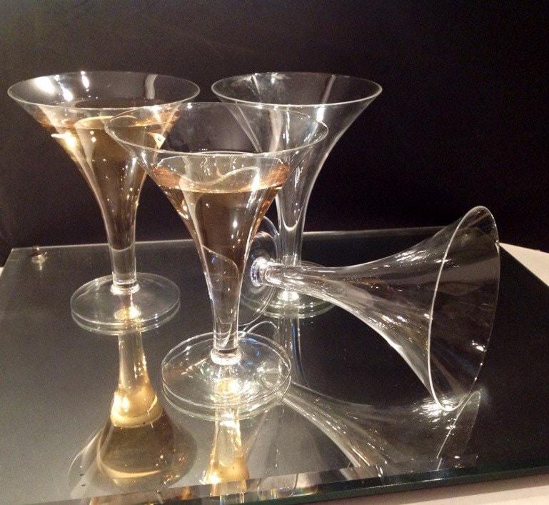 Vintage hollow stem champagne glasses retro barware circa - Hollow stem champagne glasses ...