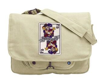The Joker Embroidered Canvas Messenger Bag