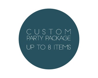 Customized Printable Party Package / Birthday Printable / Birthday Package / Baby Shower Printable / Baby Shower Package / Party Printable