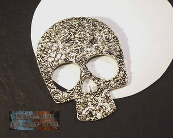 Charm Skull, Charms, jewellery, creation, accessory, pendant, jewellery making, jewellery craft, material, making, craft material