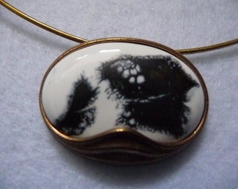 Necklace. Bronze and Faience (Finland). Vintage.