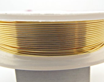 22 Gauge Gold Wire, 10 Metres, 0.6mm Wire, Gold Jewelry Wire, Gilt Copper Wire, Gold Colored Copper, Wrap Wire, Gold Craft Wire, UK Seller