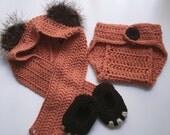 Newborn/ Baby Ewok Scoodie Cosplay set
