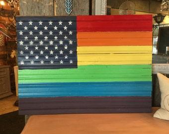 American LGBT Pride Flag 36x24