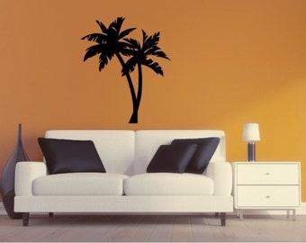 Palm Tree Wall Decal - Palm Tree Silhouette Vinyl Wall Sticker Palm Tree 6