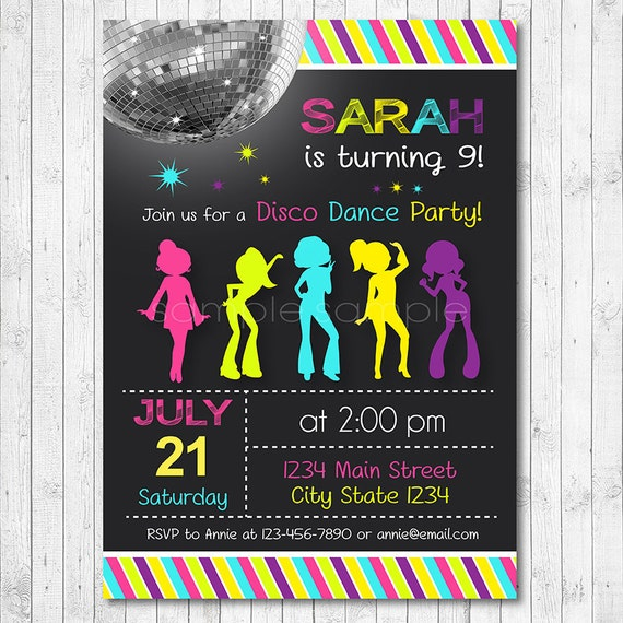 70S Birthday Party Invitations for great invitations layout