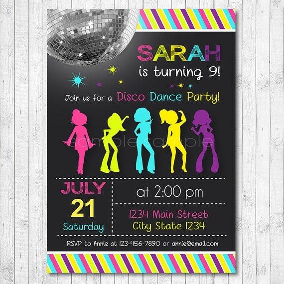 Disco Party Invitations was luxury invitation template