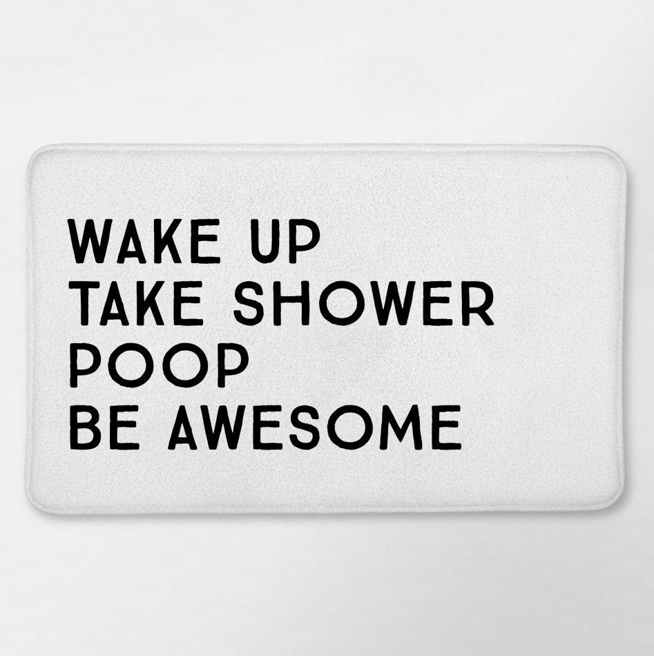 Funny bathroom decor funny bath mat funny bathroom by loftipop for Funny bathroom designs