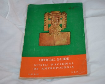 Vintage book on ancient Mexico's beautiful national art, style of South American art; Mexican Aztec